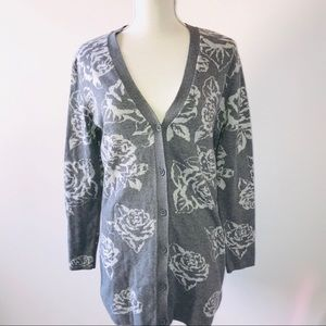 ISAAC MIZRAHI LIVE Button-down cardigan Pl…